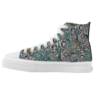 Funky hightop sneakers multi-colored modern design