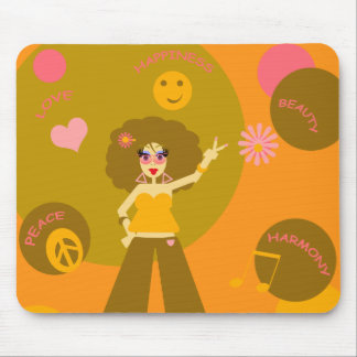 Funky Hippie Girl Mousepad