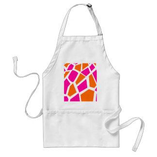 Funky Hot Pink Orange Giraffe Print Girly Pattern Apron
