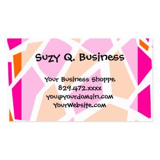 Funky Hot Pink Orange Giraffe Print Girly Pattern Pack Of Standard Business Cards