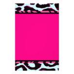 Funky Hot Pink Zebra Cheetah Set Customised Stationery