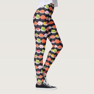 Funky Illustrated Sushi Leggings