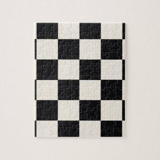 Funky Khaki Black Blocks Jigsaw Puzzle