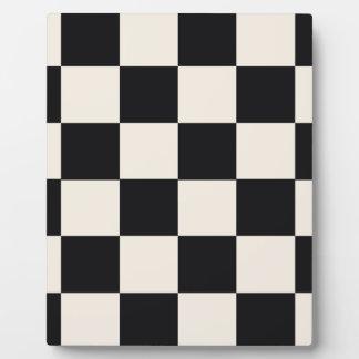 Funky Khaki Black Blocks Plaque