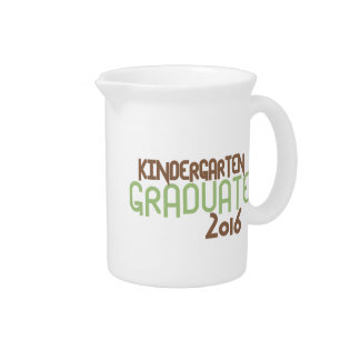 Funky Kindergarten Graduate 2016 (Green) Drink Pitcher