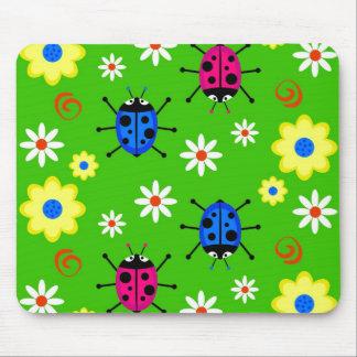 Funky Ladybugs Mouse Pad