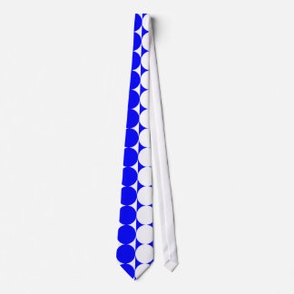 Funky Large Blue and White Dots Necktie