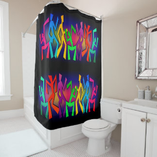Funky Large Dancers Shower Curtain
