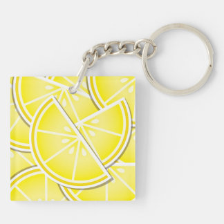 Funky lemon wedges! key ring