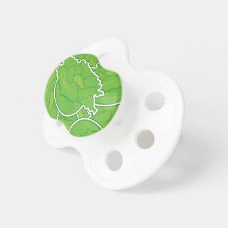 Funky lettuce pacifiers