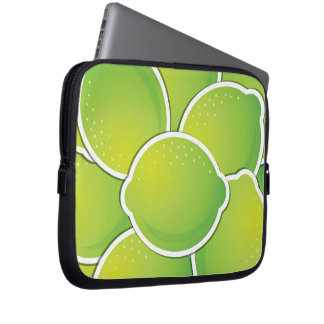 Funky lime computer sleeves