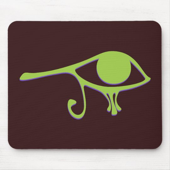 Funky Lime Purple Wedjet Mouse Pad