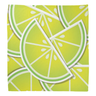 Funky lime wedges bandana
