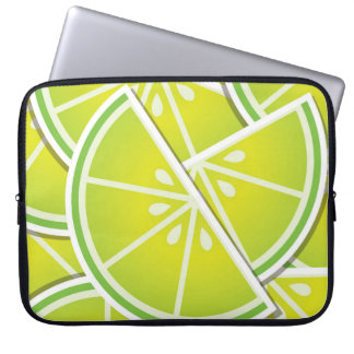 Funky lime wedges laptop computer sleeve