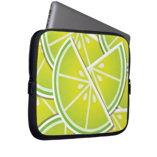 Funky lime wedges laptop computer sleeves