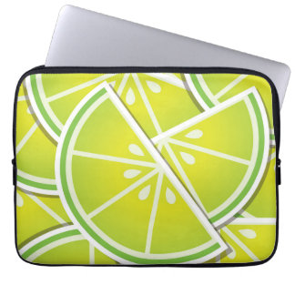 Funky lime wedges laptop sleeve