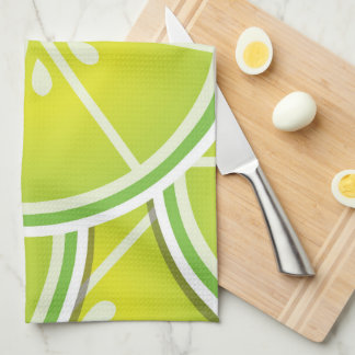 Funky lime wedges towels