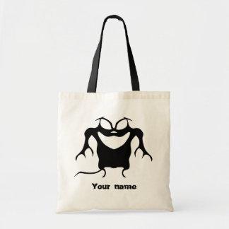 Funky little monster beast tote bag