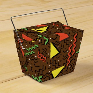 Funky Loud Brown Memphis Design Favour Box
