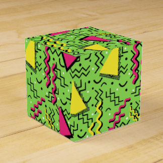 Funky Loud Green Memphis Design Favour Box