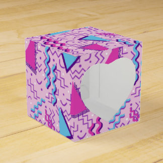 Funky Loud Pink Memphis Design Favour Box