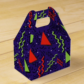 Funky Loud Purple Memphis Design Favour Box