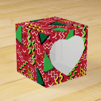 Funky Loud Red Memphis Design Favour Box