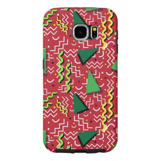 Funky Loud Red Memphis Design Samsung Galaxy S6 Cases