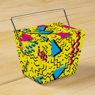 Funky Loud Yellow Memphis Design Favour Box