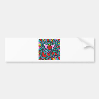 Funky Love Doodle Bumper Sticker