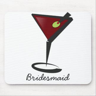 Funky martini Fun Bridesmaid Favors Mouse Pads