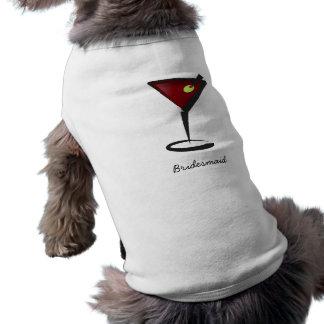 Funky martini Fun Bridesmaid Favors Sleeveless Dog Shirt