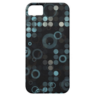 Funky Masculine Grey Blue Circle Stylish Geometric Case For The iPhone 5