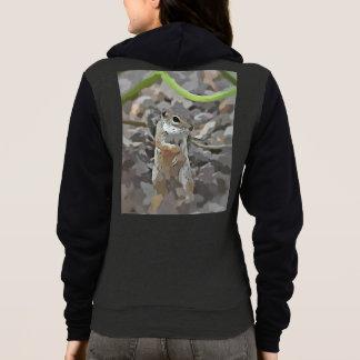 Funky Mikey Women's Fleece Zip Hoodie
