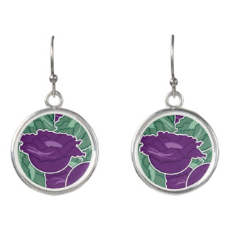 Funky mixed cabbage earrings