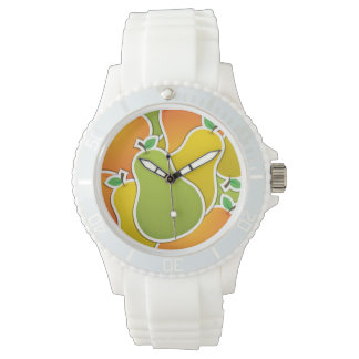 Funky mixed pear wristwatches
