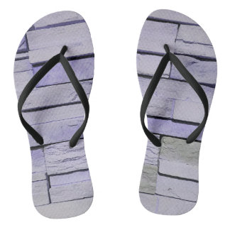 Funky Modern Lavender Stacked Bricks Thongs