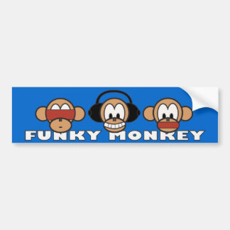 funky monkey bumper sticker