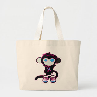 Funky Monkey by HusbandsRock Large Tote Bag