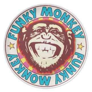 Funky Monkey Dinner Plates
