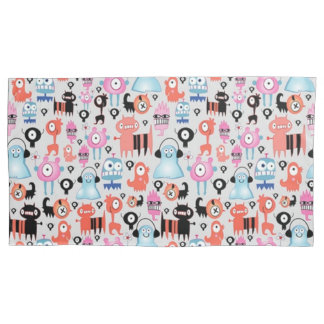 Funky Monsters Pillowcase