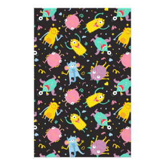 Funky monsters stationery