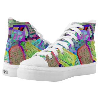 Funky Museum Zipz High Top Shoes Printed Shoes