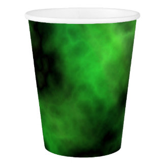 Funky Neon Green Emerald Halloween Abstract Paper Cup