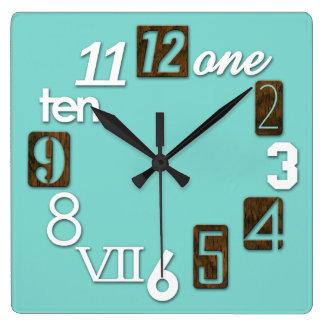 Funky Numbra Square Wall Clocks