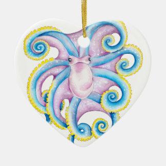 Funky Octopus Ceramic Ornament