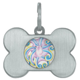 Funky Octopus Pet Tag