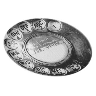 Funky Old British Telephone Dial Design Plate