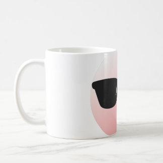 Funky or stylish emoticon with black shades coffee mug