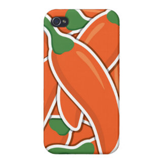 Funky orange chilli peppers iPhone 4/4S case